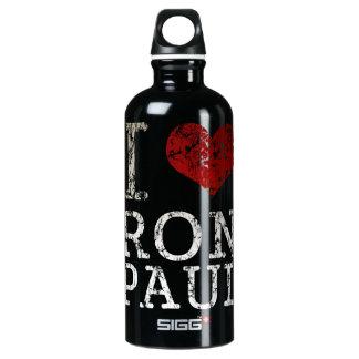 Botella de la libertad de Ron Paul del corazón I