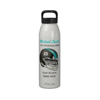 Botella de la libertad del casco de fútbol america botella de agua reutilizable