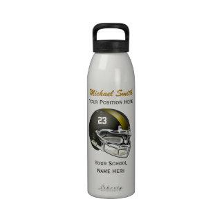 Botella de la libertad del casco de fútbol america botella de beber