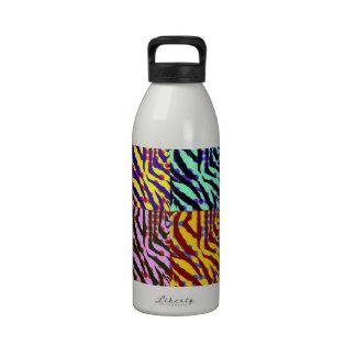 Botella de la libertad del estampado de zebra de A Botellas De Agua Reutilizables