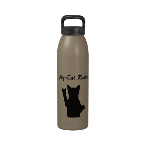 Botella de la libertad del gato de Rockin Botella De Beber