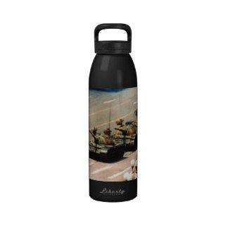 Botella de la libertad del hombre del tanque botella de agua