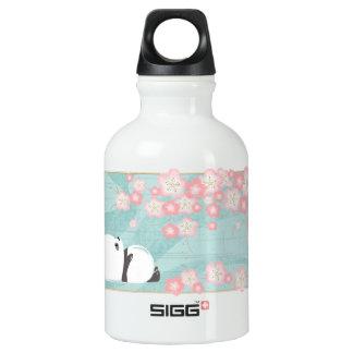Botella de la panda SML del zen (flores del