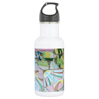 Botella de los mosaicos de Guell del parque