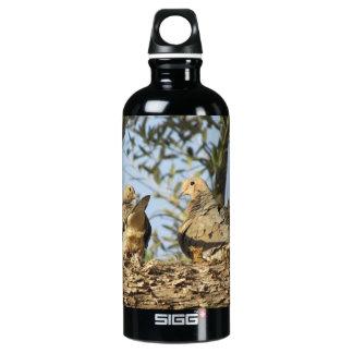Botella de luto de los pares de la paloma