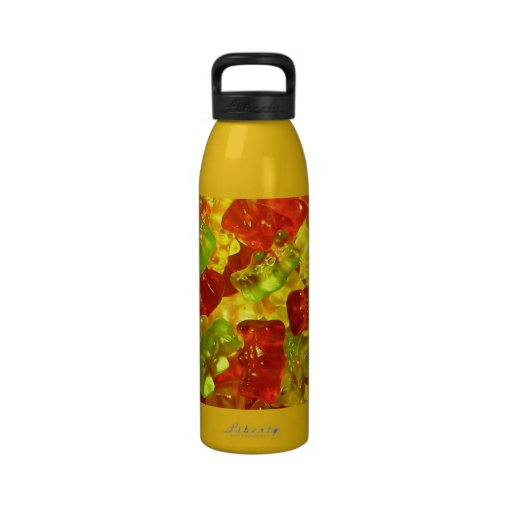 Botella de osos gomosa botella de agua reutilizable