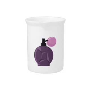Botella de perfume jarras de beber