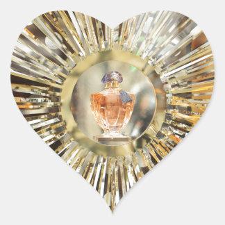 Botella de perfume pegatina en forma de corazón
