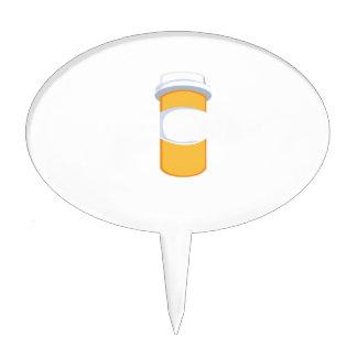 Botella de píldora decoración de tarta