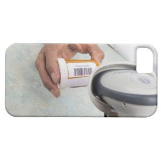 Botella de píldora de la exploración del farmacéut iPhone 5 protectores