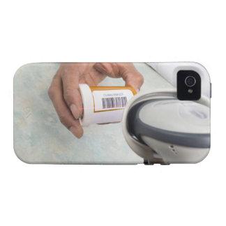 Botella de píldora de la exploración del farmacéut vibe iPhone 4 carcasas