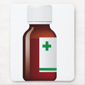 Botella de píldora alfombrilla de ratón