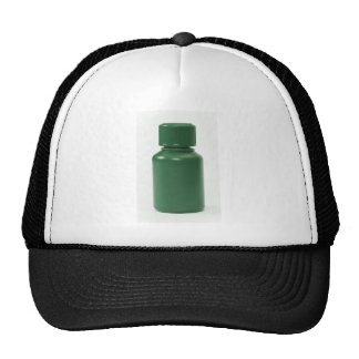 botella de píldoras plástica verde gorras de camionero