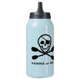 Botella de Thermos alegre del kajak del pirata de