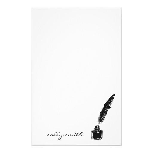 Botella de tinta con efectos de escritorio de la c personalized stationery