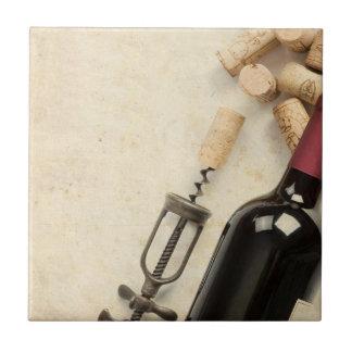 Botella de vino teja cerámica