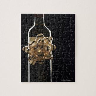 Botella de vino con el arco puzzles