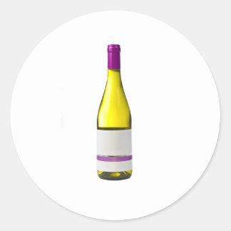 Botella de vino de calidad con la etiqueta en