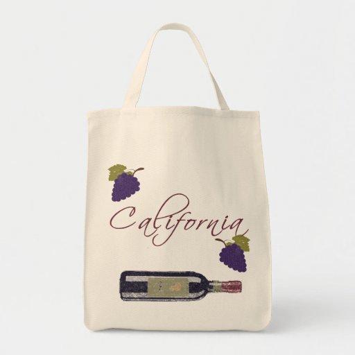 Botella de vino del vintage de California