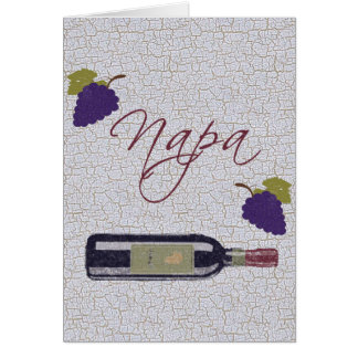 Botella de vino del vintage de Napa Tarjeta De Felicitación