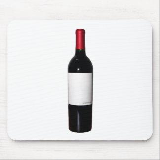 Botella de vino (etiqueta en blanco) Mousepad Tapete De Ratón