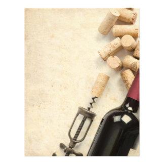 """Botella de vino folleto 8.5"""" x 11"""""""