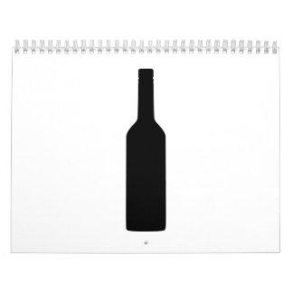 Botella de vino negra calendario