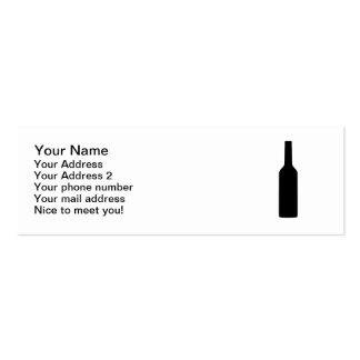 Botella de vino negra tarjeta de visita