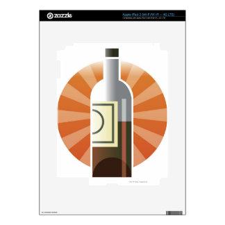 Botella de vino pegatina skin para iPad 3