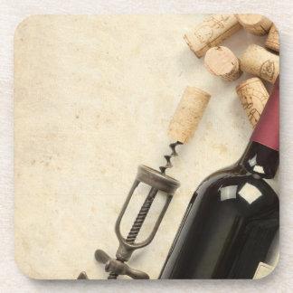 Botella de vino posavaso