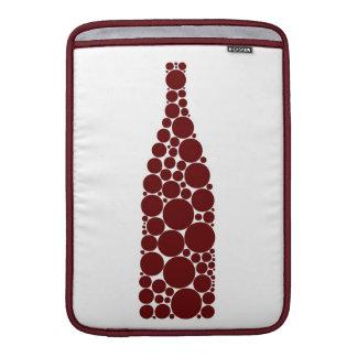 Botella de vino rojo funda macbook air