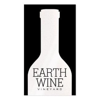 Botella de vino tarjetas de visita