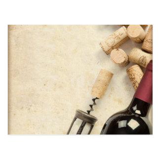 Botella de vino tarjetas postales