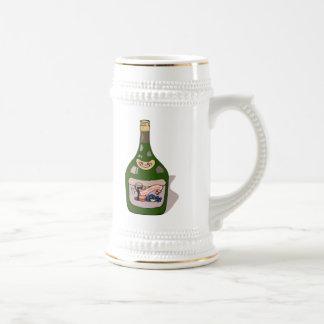 Botella de vino jarra de cerveza