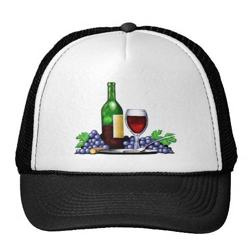 Botella de vino y gorra del vidrio