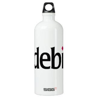 botella debian de la libertad del logotipo de