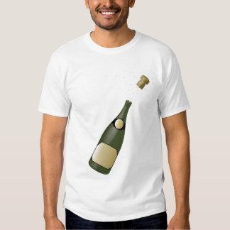 botella del champán playeras