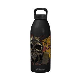 Botella del cráneo del Biohazard de Gasmask Botella De Agua