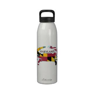Botella del deporte del cangrejo de la bandera de botella de agua