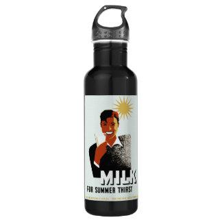 Botella del poster de WPA de la leche de Dink