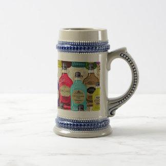Botella del tónico del boticario de los doctores d tazas de café