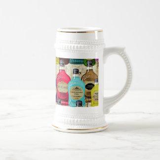 Botella del tónico del boticario de los doctores d jarra de cerveza