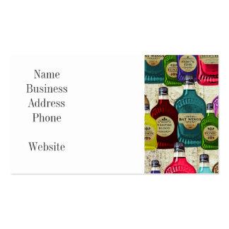 Botella del tónico del boticario de los doctores tarjetas de visita