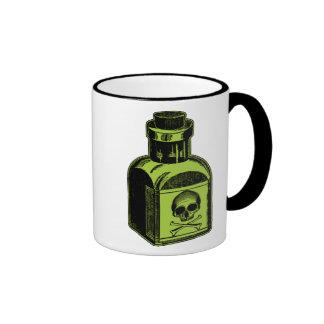 Botella del veneno taza de dos colores