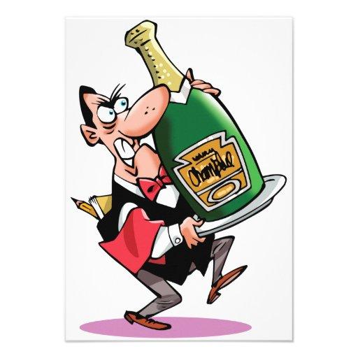 Botella enorme de invitaciones de Champán Anuncios Personalizados