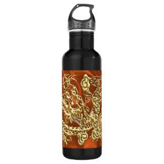 Botella enorme de la libertad del satén anaranjado