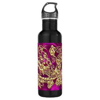 Botella enorme de la libertad del satén magenta