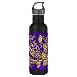 Botella enorme de la libertad del satén púrpura