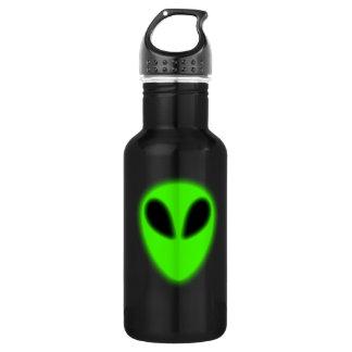 Botella extranjera verde de la libertad que brilla