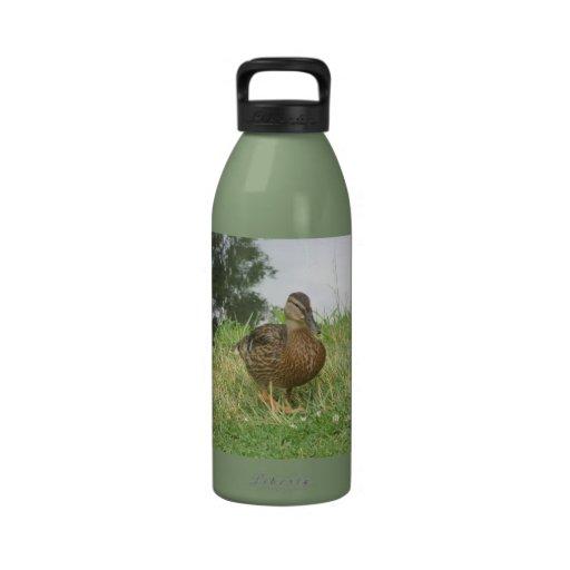 Botella femenina de la libertad del pato del pato  botellas de agua reutilizables